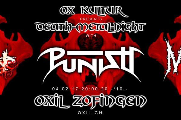 Death-Metal-Night mit Punish, Miasma & Amputate